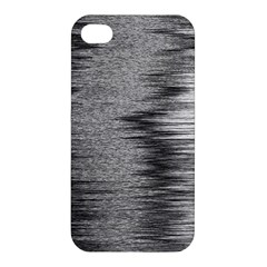 Rectangle Abstract Background Black And White In Rectangle Shape Apple iPhone 4/4S Hardshell Case