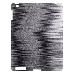 Rectangle Abstract Background Black And White In Rectangle Shape Apple Ipad 3/4 Hardshell Case