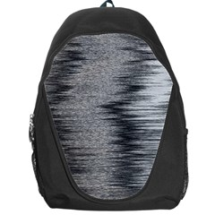 Rectangle Abstract Background Black And White In Rectangle Shape Backpack Bag
