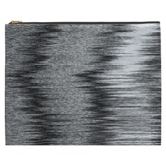 Rectangle Abstract Background Black And White In Rectangle Shape Cosmetic Bag (XXXL)