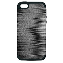 Rectangle Abstract Background Black And White In Rectangle Shape Apple Iphone 5 Hardshell Case (pc+silicone)