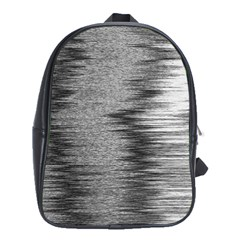 Rectangle Abstract Background Black And White In Rectangle Shape School Bags (XL)