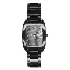 Rectangle Abstract Background Black And White In Rectangle Shape Stainless Steel Barrel Watch