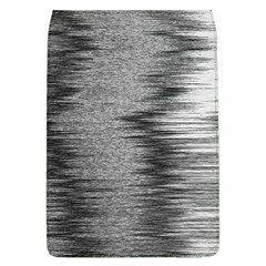 Rectangle Abstract Background Black And White In Rectangle Shape Flap Covers (L)