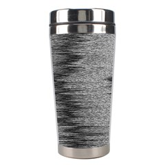 Rectangle Abstract Background Black And White In Rectangle Shape Stainless Steel Travel Tumblers