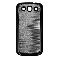 Rectangle Abstract Background Black And White In Rectangle Shape Samsung Galaxy S3 Back Case (Black)