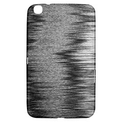 Rectangle Abstract Background Black And White In Rectangle Shape Samsung Galaxy Tab 3 (8 ) T3100 Hardshell Case