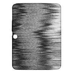 Rectangle Abstract Background Black And White In Rectangle Shape Samsung Galaxy Tab 3 (10.1 ) P5200 Hardshell Case