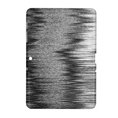 Rectangle Abstract Background Black And White In Rectangle Shape Samsung Galaxy Tab 2 (10 1 ) P5100 Hardshell Case