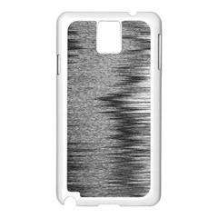 Rectangle Abstract Background Black And White In Rectangle Shape Samsung Galaxy Note 3 N9005 Case (White)