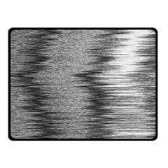 Rectangle Abstract Background Black And White In Rectangle Shape Double Sided Fleece Blanket (small)