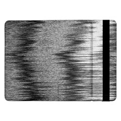 Rectangle Abstract Background Black And White In Rectangle Shape Samsung Galaxy Tab Pro 12 2  Flip Case