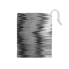 Rectangle Abstract Background Black And White In Rectangle Shape Drawstring Pouches (Medium)
