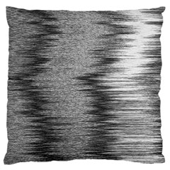 Rectangle Abstract Background Black And White In Rectangle Shape Large Flano Cushion Case (One Side)