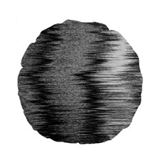 Rectangle Abstract Background Black And White In Rectangle Shape Standard 15  Premium Flano Round Cushions