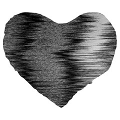 Rectangle Abstract Background Black And White In Rectangle Shape Large 19  Premium Flano Heart Shape Cushions