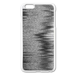 Rectangle Abstract Background Black And White In Rectangle Shape Apple iPhone 6 Plus/6S Plus Enamel White Case