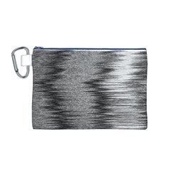 Rectangle Abstract Background Black And White In Rectangle Shape Canvas Cosmetic Bag (M)