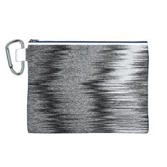 Rectangle Abstract Background Black And White In Rectangle Shape Canvas Cosmetic Bag (l)