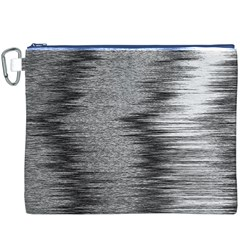 Rectangle Abstract Background Black And White In Rectangle Shape Canvas Cosmetic Bag (XXXL)