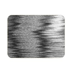 Rectangle Abstract Background Black And White In Rectangle Shape Double Sided Flano Blanket (Mini)