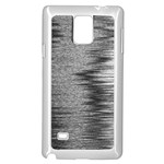 Rectangle Abstract Background Black And White In Rectangle Shape Samsung Galaxy Note 4 Case (White) Front