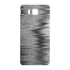 Rectangle Abstract Background Black And White In Rectangle Shape Samsung Galaxy Alpha Hardshell Back Case