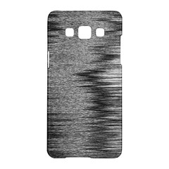 Rectangle Abstract Background Black And White In Rectangle Shape Samsung Galaxy A5 Hardshell Case