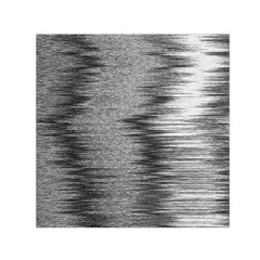 Rectangle Abstract Background Black And White In Rectangle Shape Small Satin Scarf (Square)