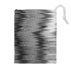 Rectangle Abstract Background Black And White In Rectangle Shape Drawstring Pouches (Extra Large)