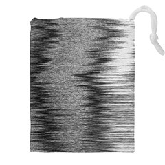 Rectangle Abstract Background Black And White In Rectangle Shape Drawstring Pouches (xxl)