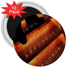 Magic Steps Stair With Light In The Dark 3  Magnets (10 pack)