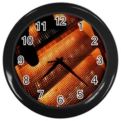 Magic Steps Stair With Light In The Dark Wall Clocks (Black)