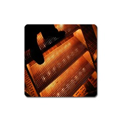 Magic Steps Stair With Light In The Dark Square Magnet