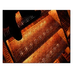 Magic Steps Stair With Light In The Dark Rectangular Jigsaw Puzzl