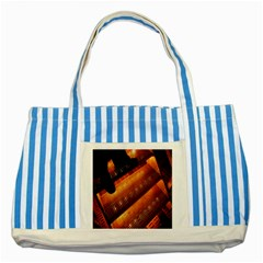 Magic Steps Stair With Light In The Dark Striped Blue Tote Bag
