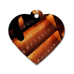 Magic Steps Stair With Light In The Dark Dog Tag Heart (two Sides)