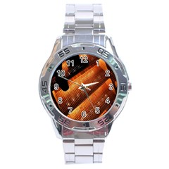 Magic Steps Stair With Light In The Dark Stainless Steel Analogue Watch