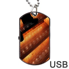 Magic Steps Stair With Light In The Dark Dog Tag USB Flash (One Side)
