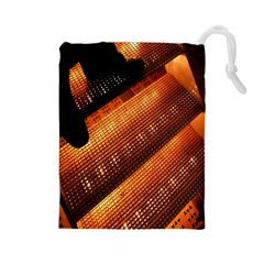 Magic Steps Stair With Light In The Dark Drawstring Pouches (large)
