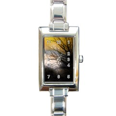 Tree Art Artistic Abstract Background Rectangle Italian Charm Watch