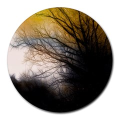 Tree Art Artistic Abstract Background Round Mousepads