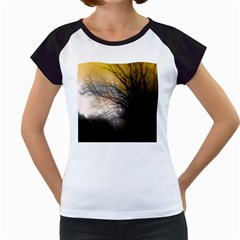 Tree Art Artistic Abstract Background Women s Cap Sleeve T