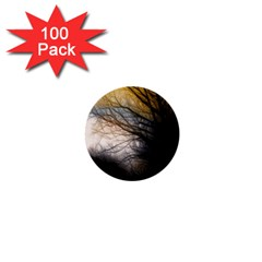 Tree Art Artistic Abstract Background 1  Mini Buttons (100 Pack)