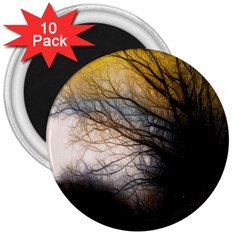 Tree Art Artistic Abstract Background 3  Magnets (10 Pack)