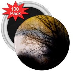 Tree Art Artistic Abstract Background 3  Magnets (100 pack)