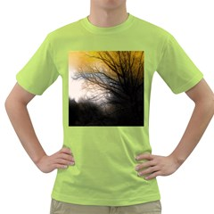 Tree Art Artistic Abstract Background Green T Shirt