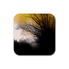 Tree Art Artistic Abstract Background Rubber Square Coaster (4 pack)