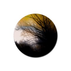 Tree Art Artistic Abstract Background Rubber Round Coaster (4 Pack)