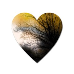 Tree Art Artistic Abstract Background Heart Magnet